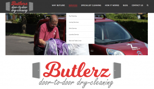 Butlerz Dry Cleaning have launched a new website