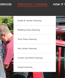 The new website has an improved navigation structure