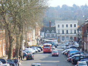 Castle Street in Farnham, Surrey